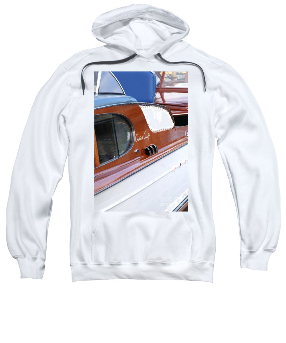 Boat Sweatshirt featuring the photograph Chris Craft Enclosed Cruiser by Neil Zimmerman