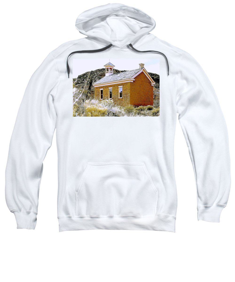 Church Sweatshirt featuring the photograph Church - Grafton Utah by Nelson Strong