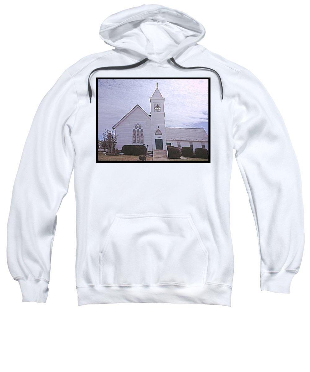 Church Sweatshirt featuring the photograph Church In Damascus Maryland by Debra Lynch