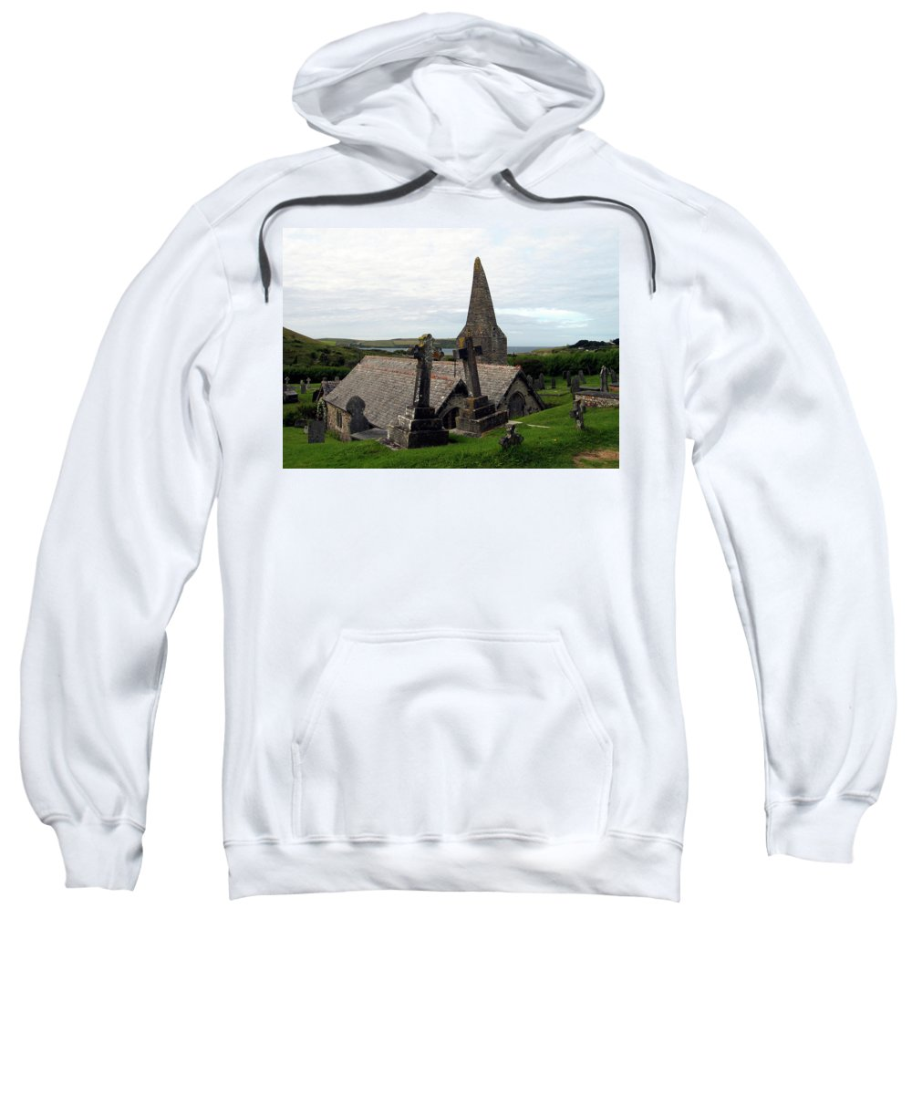 Church Of St. Enodoc Sweatshirt featuring the photograph Church Of St. Enodoc by Kurt Van Wagner