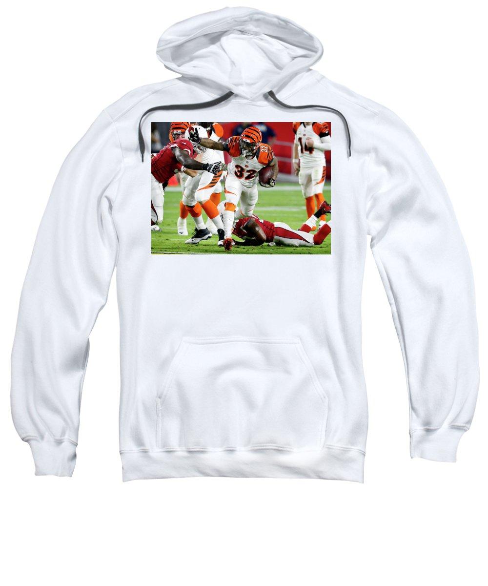 Cincinnati Bengals Sweatshirt featuring the digital art Cincinnati Bengals by Bert Mailer
