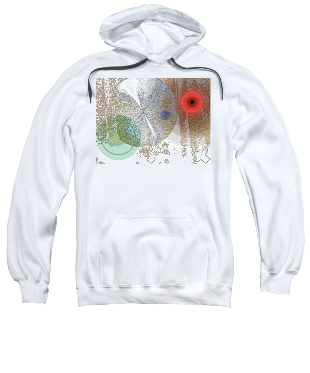Abstract Sweatshirt featuring the digital art Circles In The Musical Forest by Lenore Senior