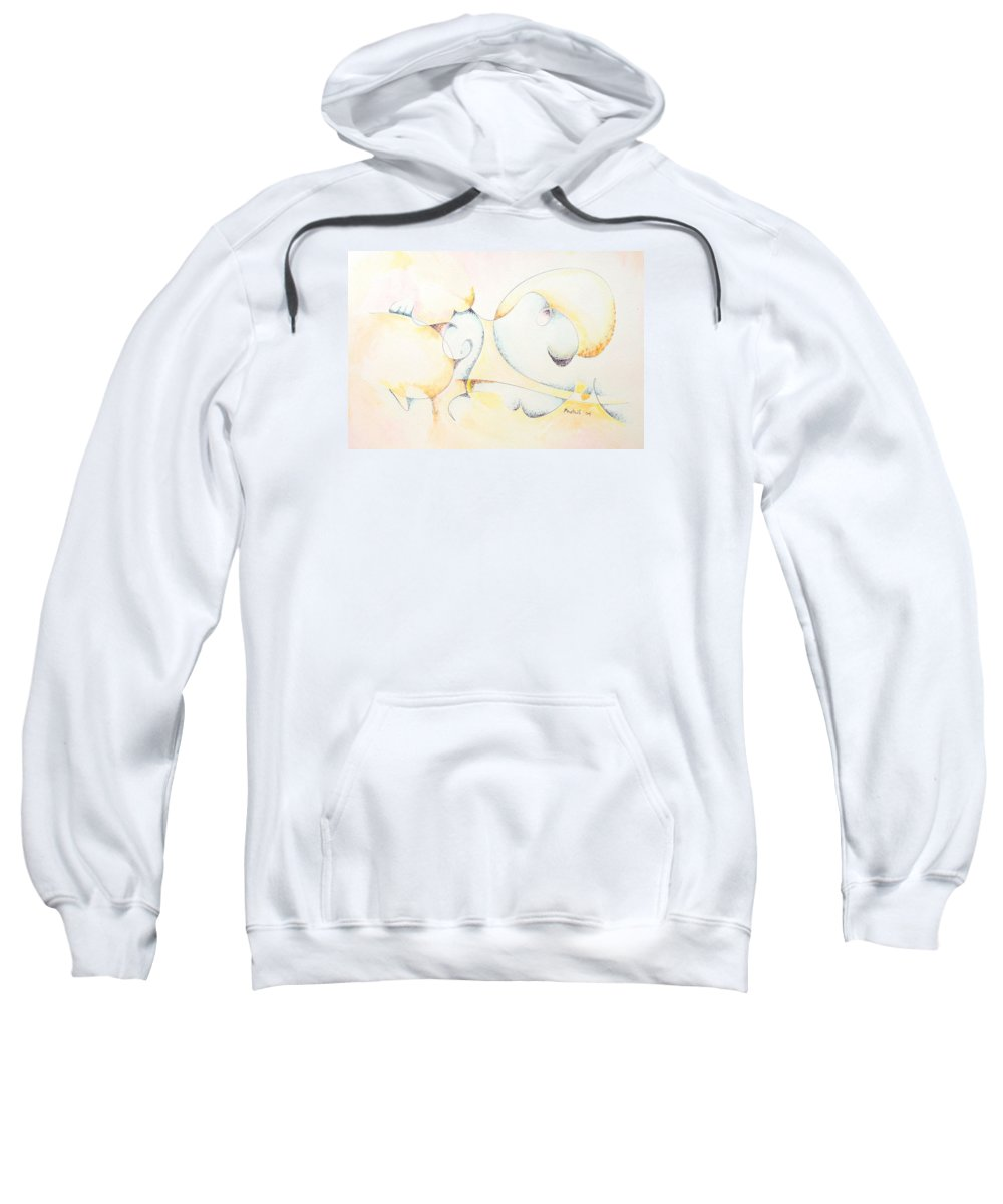Sweatshirt featuring the painting Circular Thoughts by Dave Martsolf