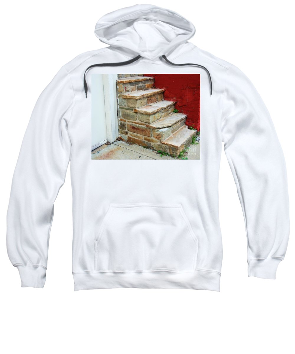 Steps Sweatshirt featuring the photograph City Steps by Debbi Granruth