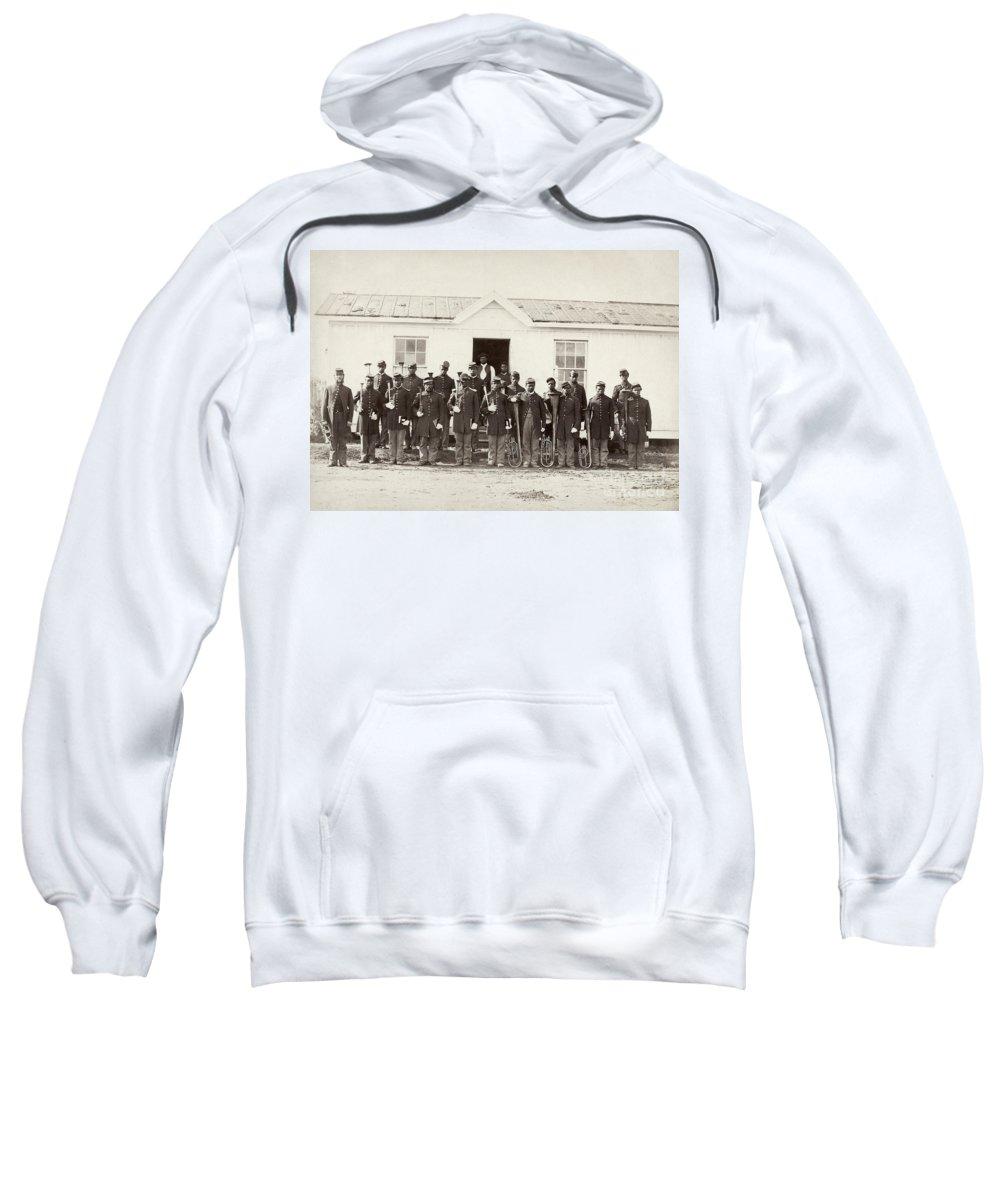 1865 Sweatshirt featuring the photograph Civil War: Band, 1865 by Granger