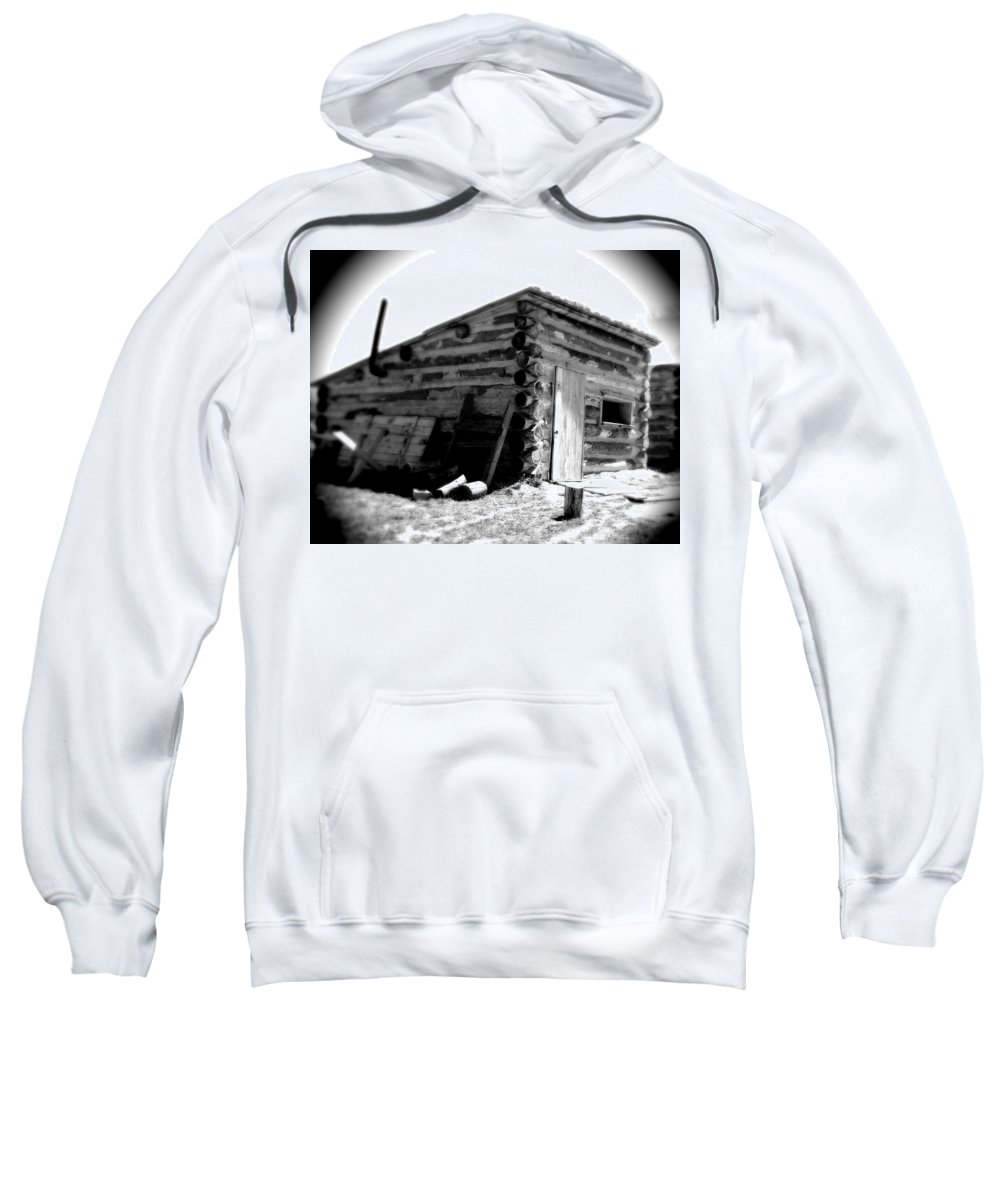 Army Sweatshirt featuring the photograph Civil War Cabin 1 Army Heritage Education Center by Jean Macaluso