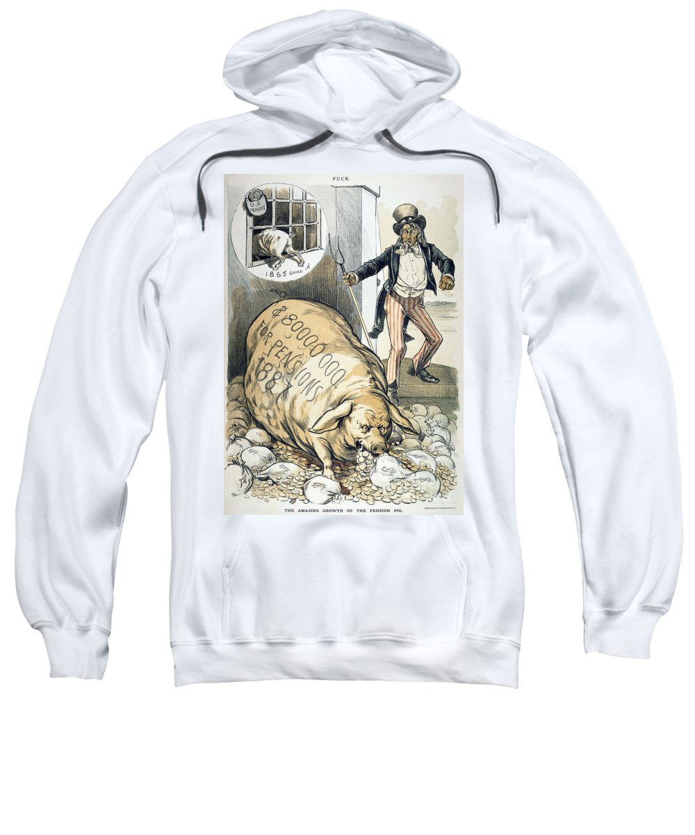 1888 Sweatshirt featuring the photograph Civil War Pensions, 1888 by Granger
