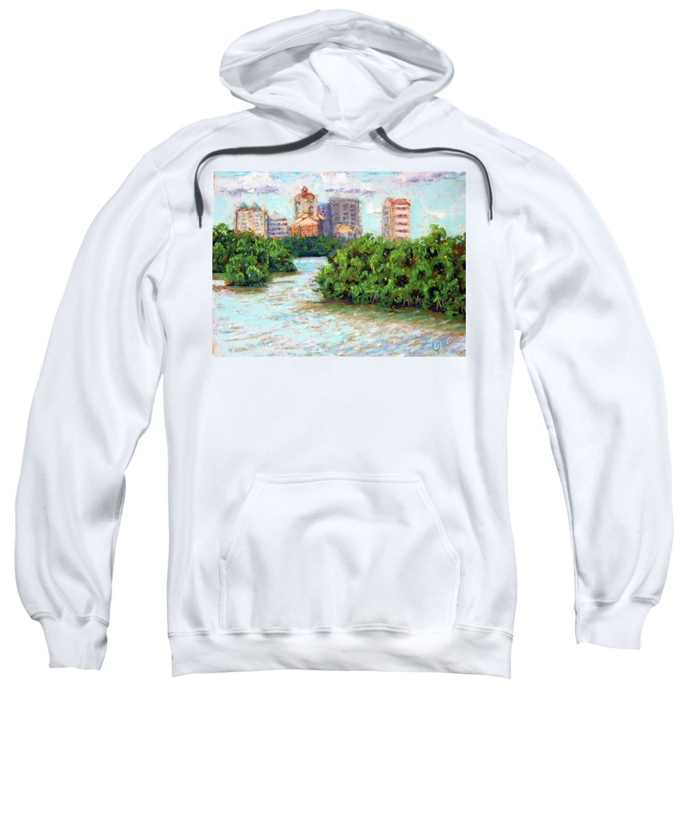 Clam Pass Sweatshirt featuring the painting Clam Pass I by Laurie Paci