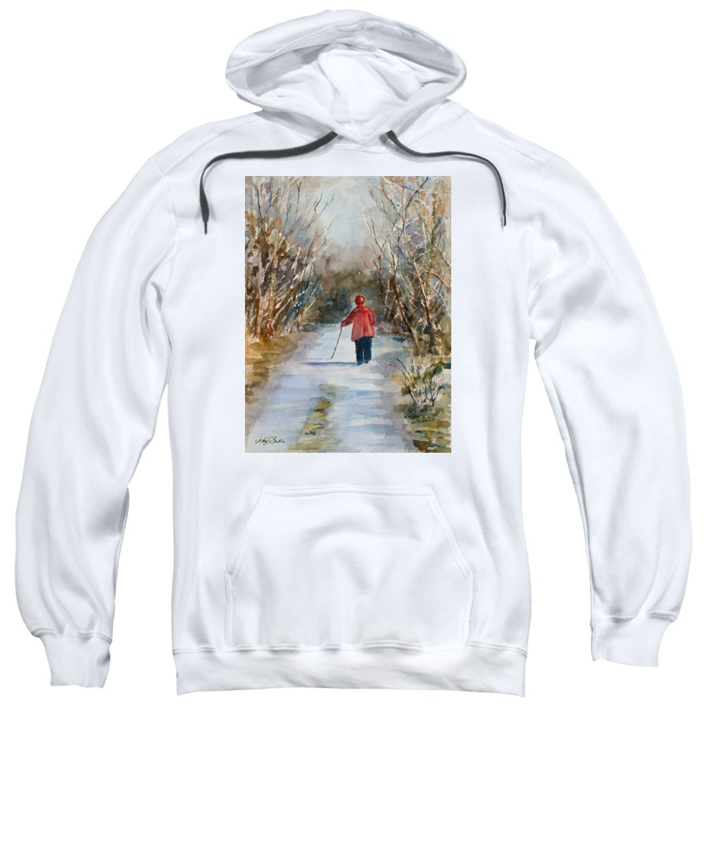 Ireland Sweatshirt featuring the painting Clare's Lane by Mary Benke
