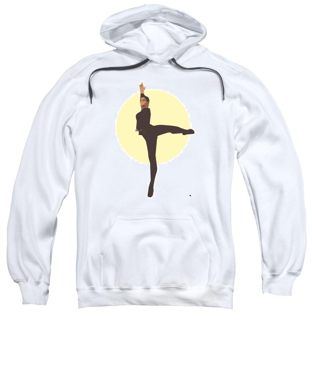Dancer Sweatshirt featuring the digital art Classic Ballet Dancer by Joaquin Abella