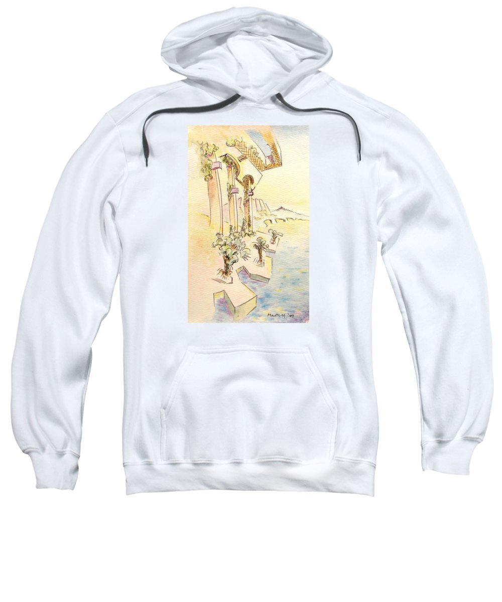 Italian Sweatshirt featuring the painting Classic Summer Morning by Dave Martsolf