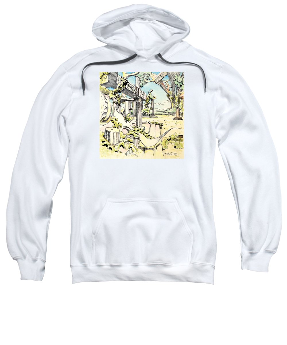 Greek Sweatshirt featuring the painting Classical Visitation by Dave Martsolf