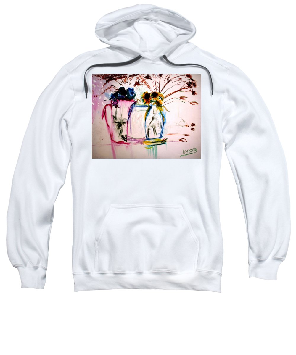 Still Life Sweatshirt featuring the painting Clear by Jack Diamond