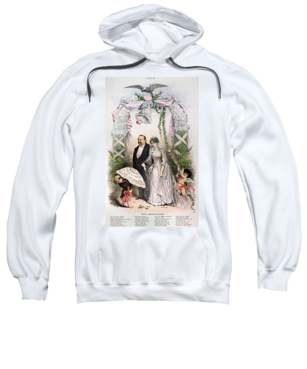 1886 Sweatshirt featuring the photograph Clevelands Wedding, 1886 by Granger