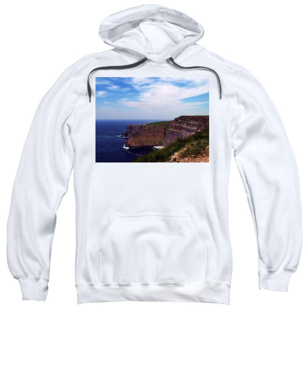 Irish Sweatshirt featuring the photograph Cliffs Of Moher Aill Na Searrach Ireland by Teresa Mucha