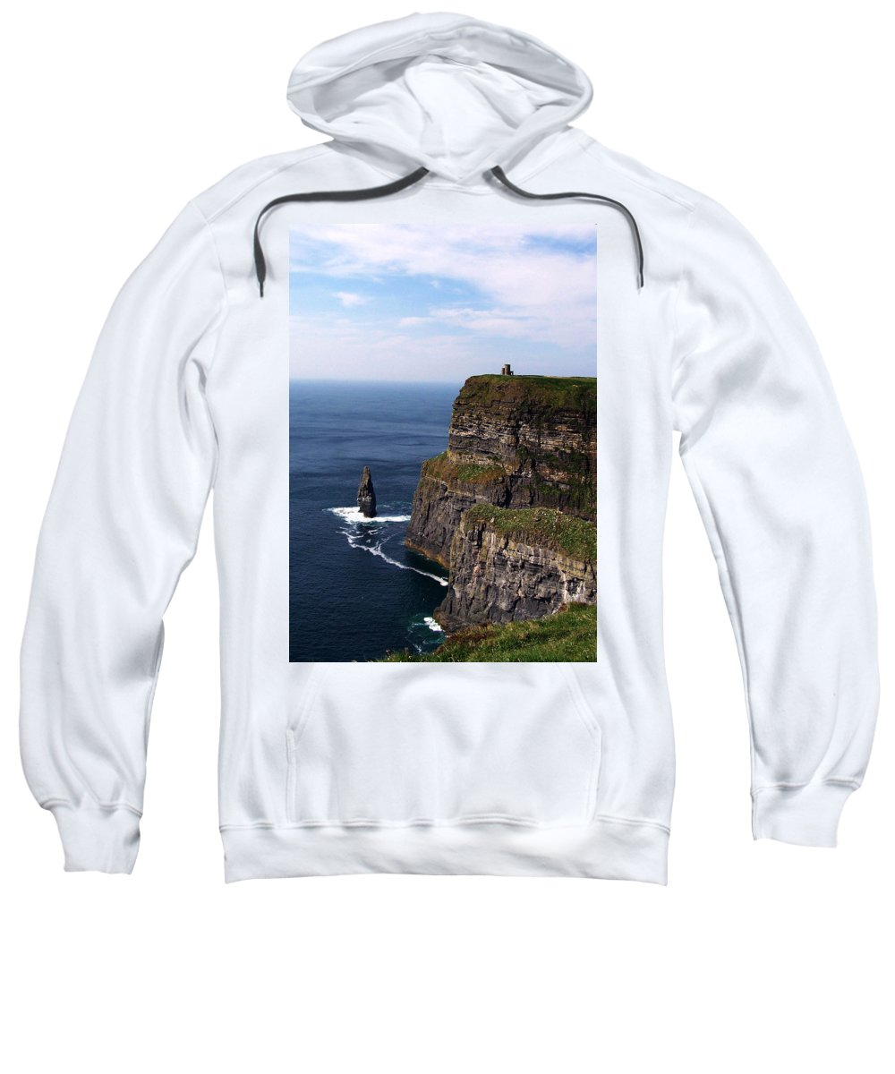 Irish Sweatshirt featuring the photograph Cliffs Of Moher County Clare Ireland by Teresa Mucha