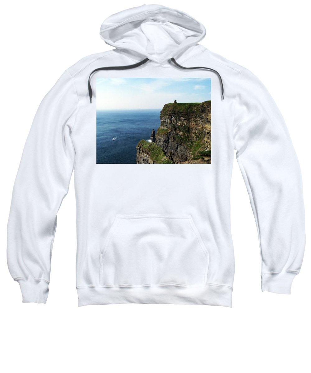 Irish Sweatshirt featuring the photograph Cliffs Of Moher Ireland by Teresa Mucha
