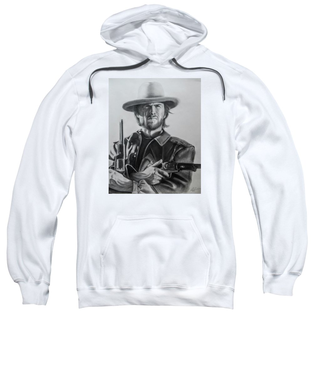 Clint Eastwood Sweatshirt featuring the photograph Clint Eastwood by John Balestrino