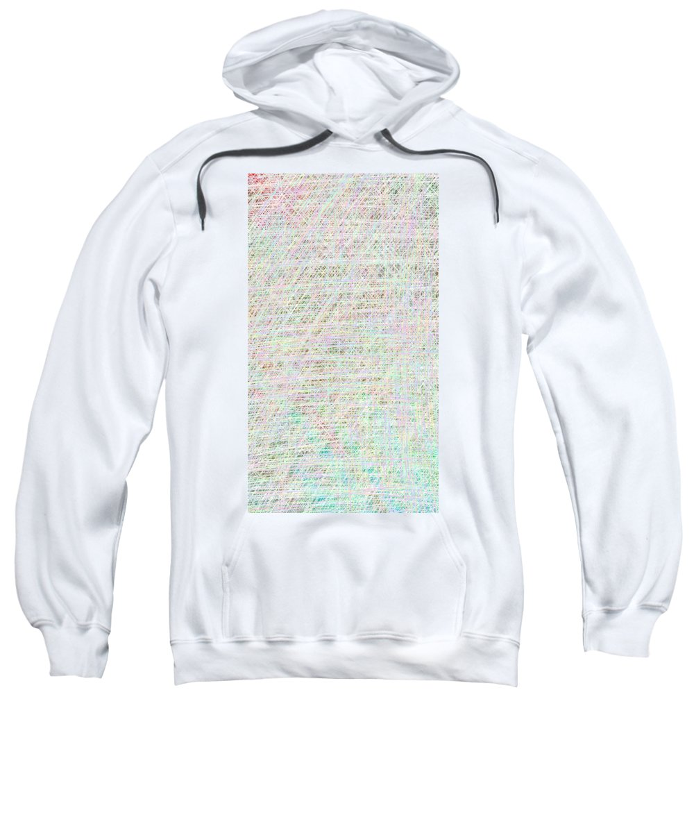 Sweatshirt featuring the drawing Closer by Chad Ward