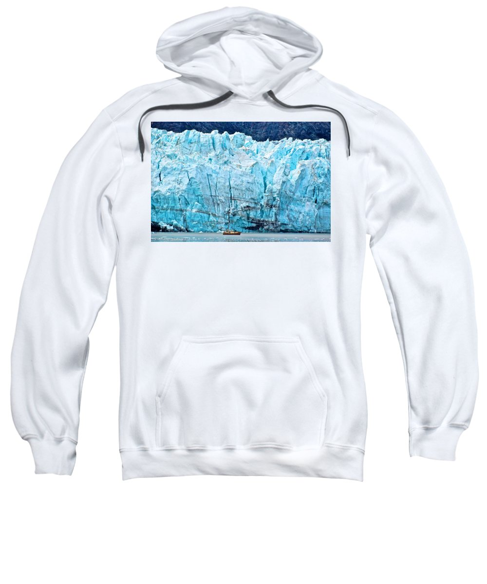 Glacier Sweatshirt featuring the photograph Closer Perspective by Eric Tressler
