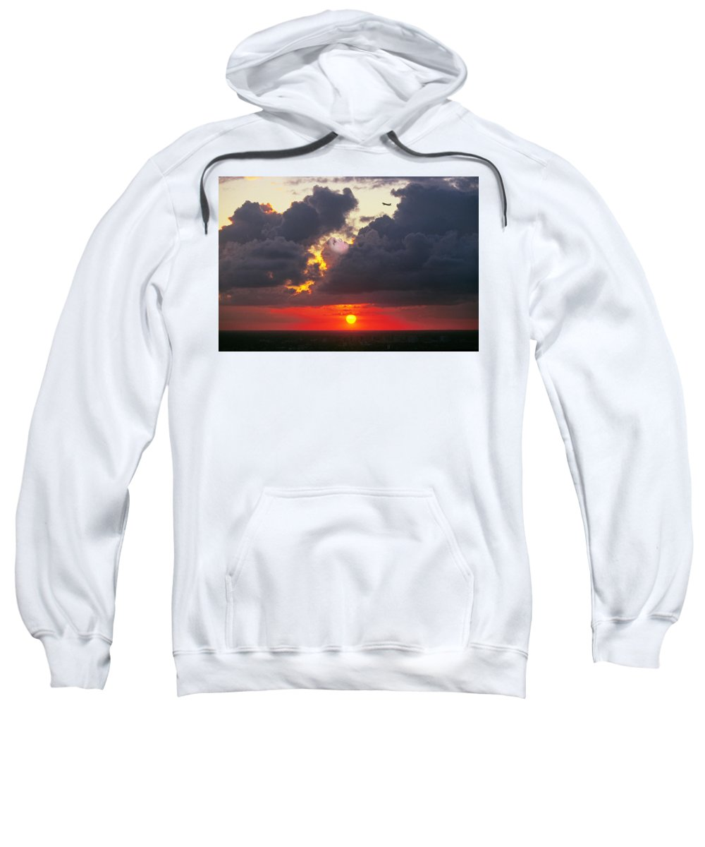 Cloud Sweatshirt featuring the photograph Cloud Woofie by Buddy Mays