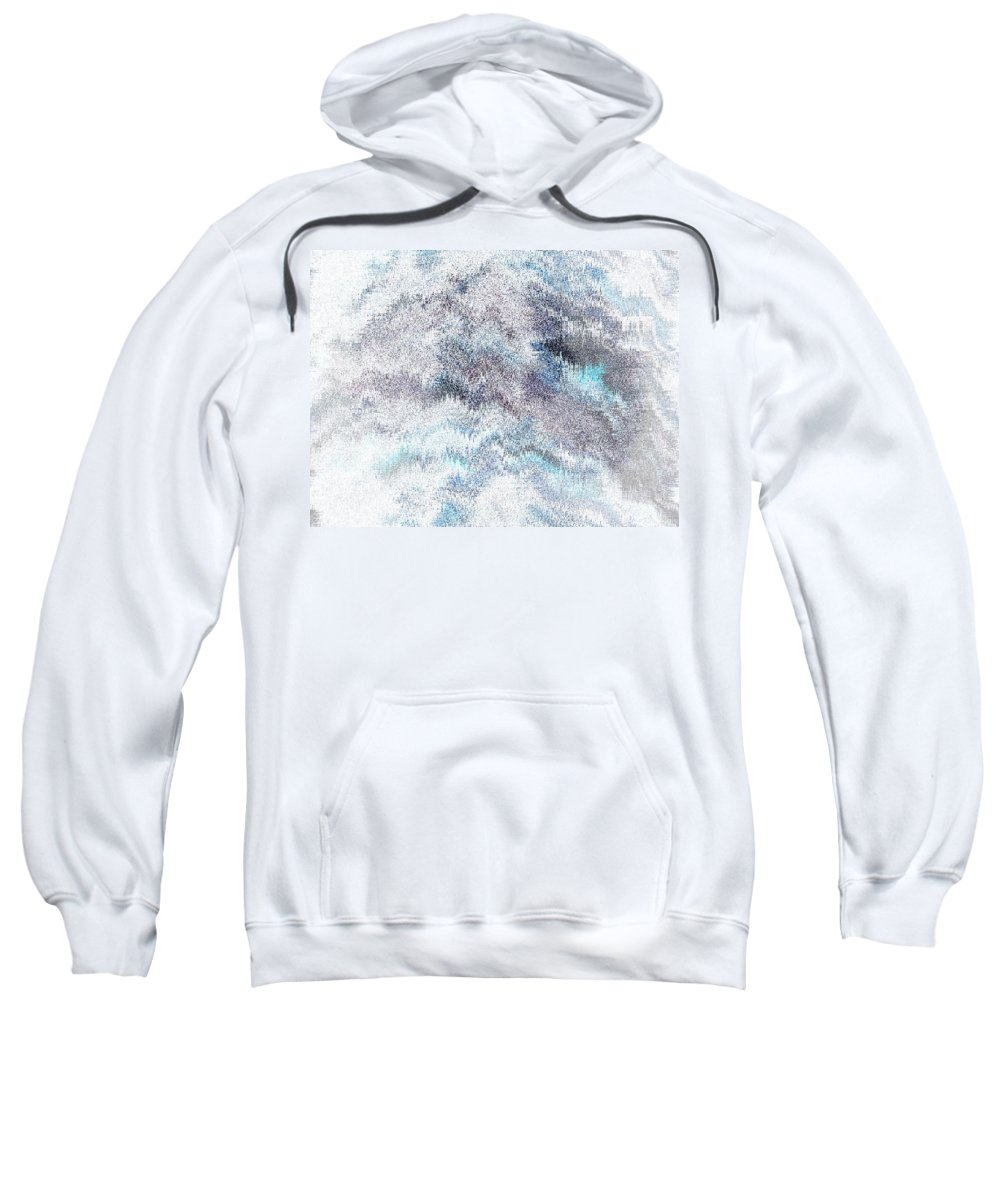 Abstract Sweatshirt featuring the digital art Clouds Filled With Snow by Lenore Senior