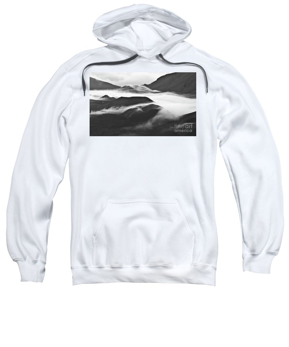 Mountains Sweatshirt featuring the photograph Maui Hawaii Haleakala National Park Clouds In Haleakala Crater by Jim Cazel