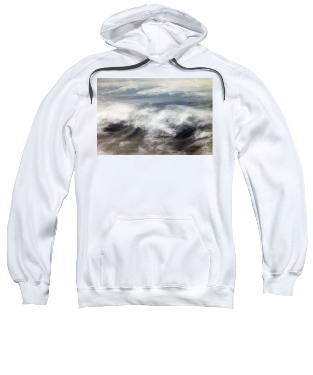 Cloud Sweatshirt featuring the photograph Clouds Tides by Munir Alawi