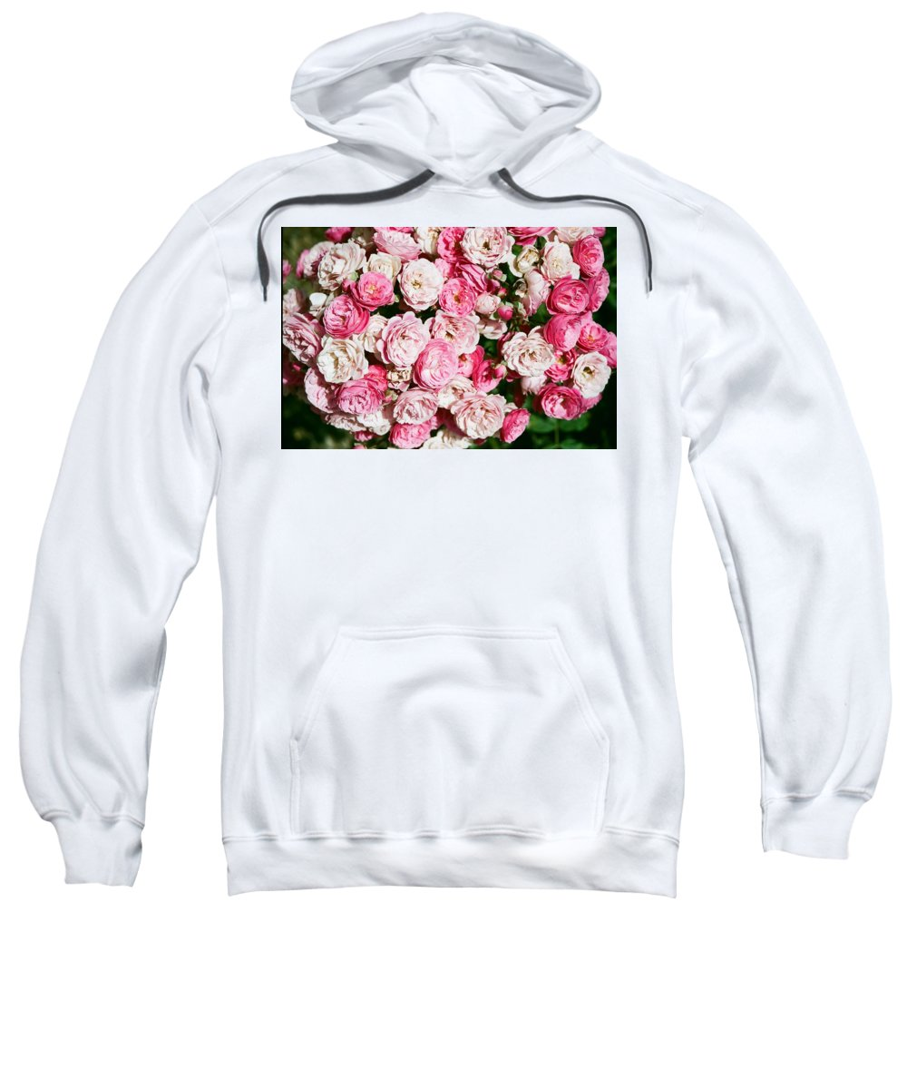 Rose Sweatshirt featuring the photograph Cluster Of Roses by Dean Triolo