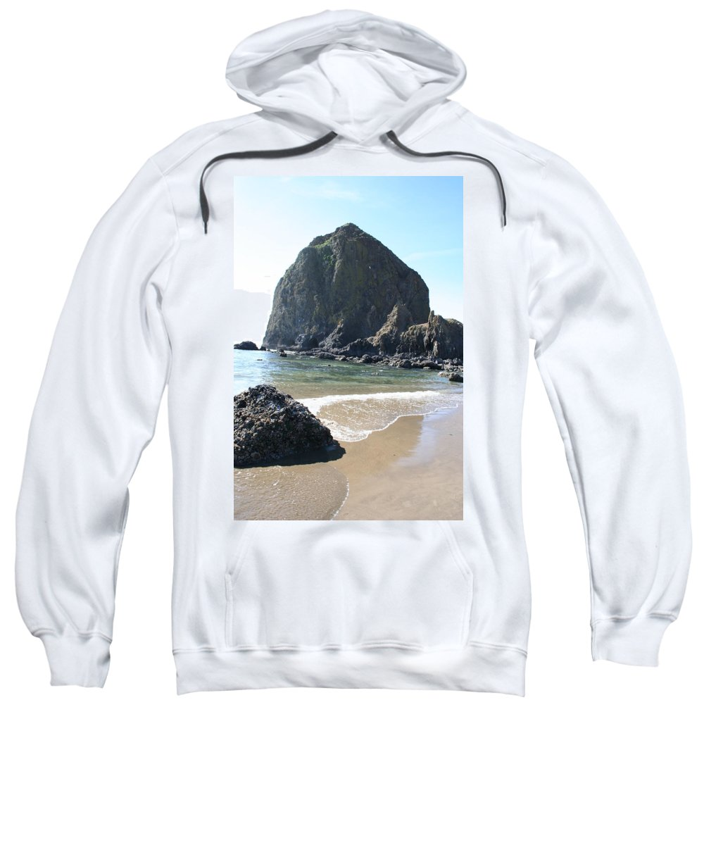 Coastal Landscape Sweatshirt featuring the photograph Coastal Landscape - Cannon Beach Afternoon - Scenic Lanscape by Quin Sweetman