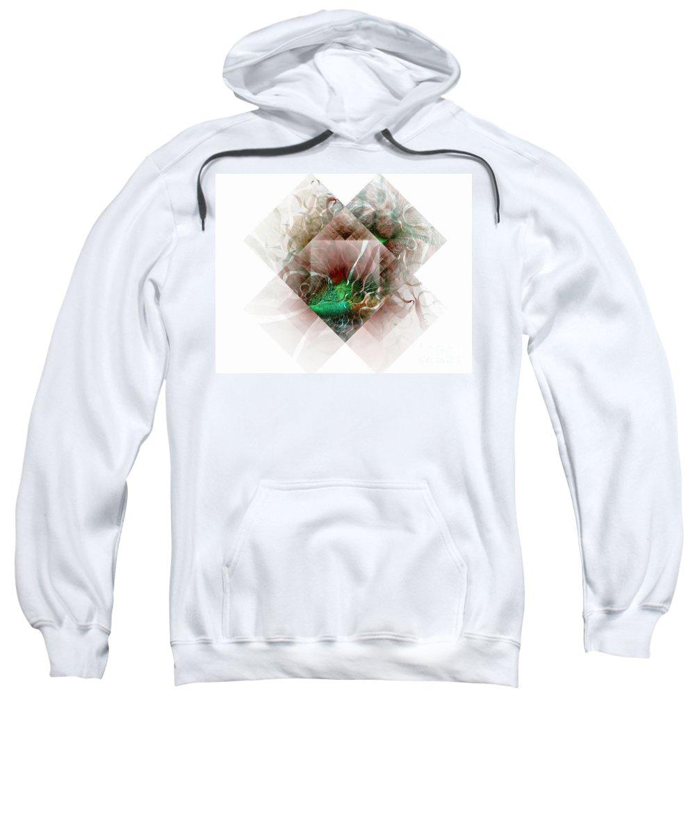 Digital Art Sweatshirt featuring the digital art Coastal Memoirs by Amanda Moore