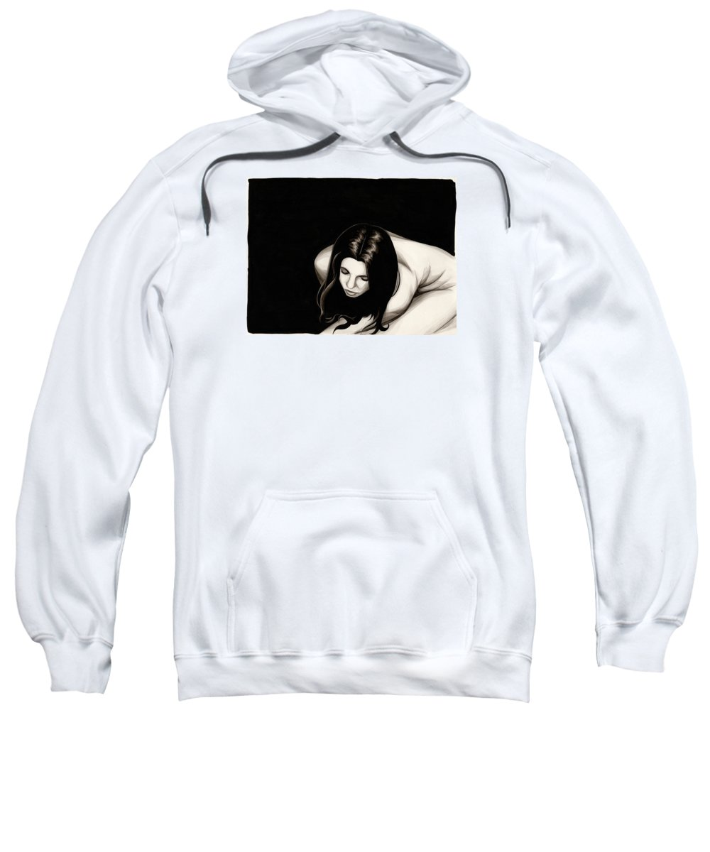 Cold Sweatshirt featuring the painting Cold #3 by James Taylor