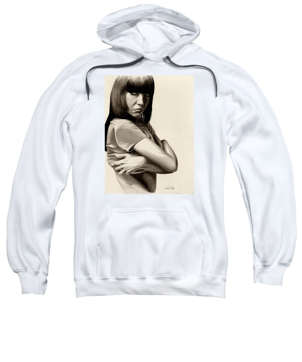 Pain Sweatshirt featuring the painting Cold #4 by James Taylor