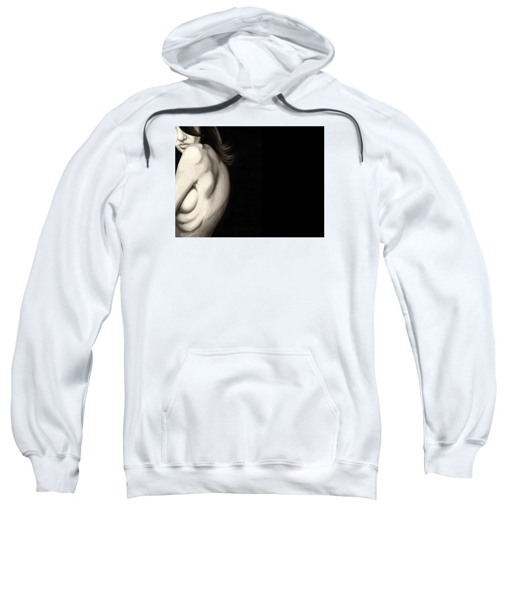 Alone Sweatshirt featuring the painting Cold #5 by James Taylor