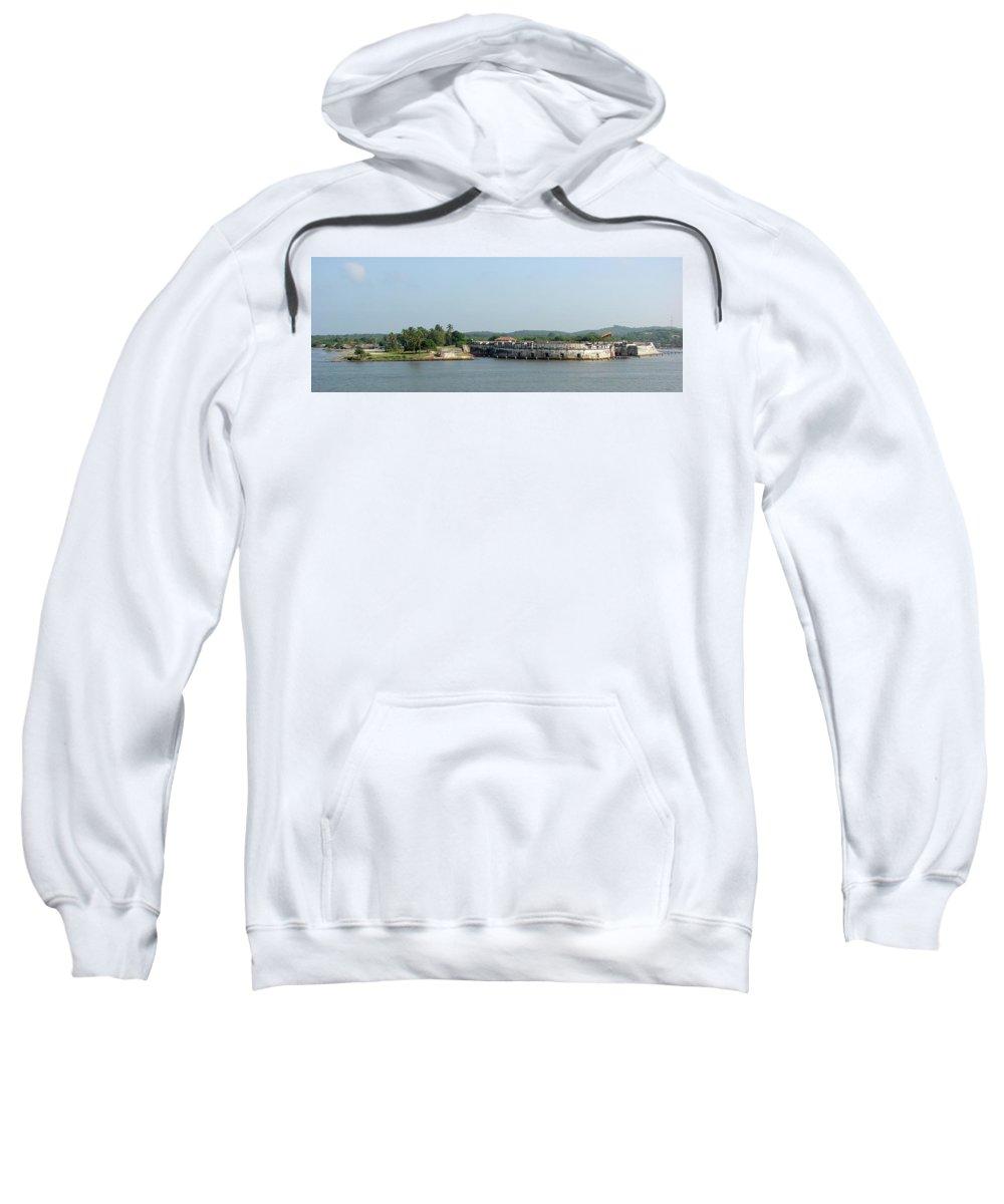 Fortress Sweatshirt featuring the photograph Colombian Fortress by Brett Winn