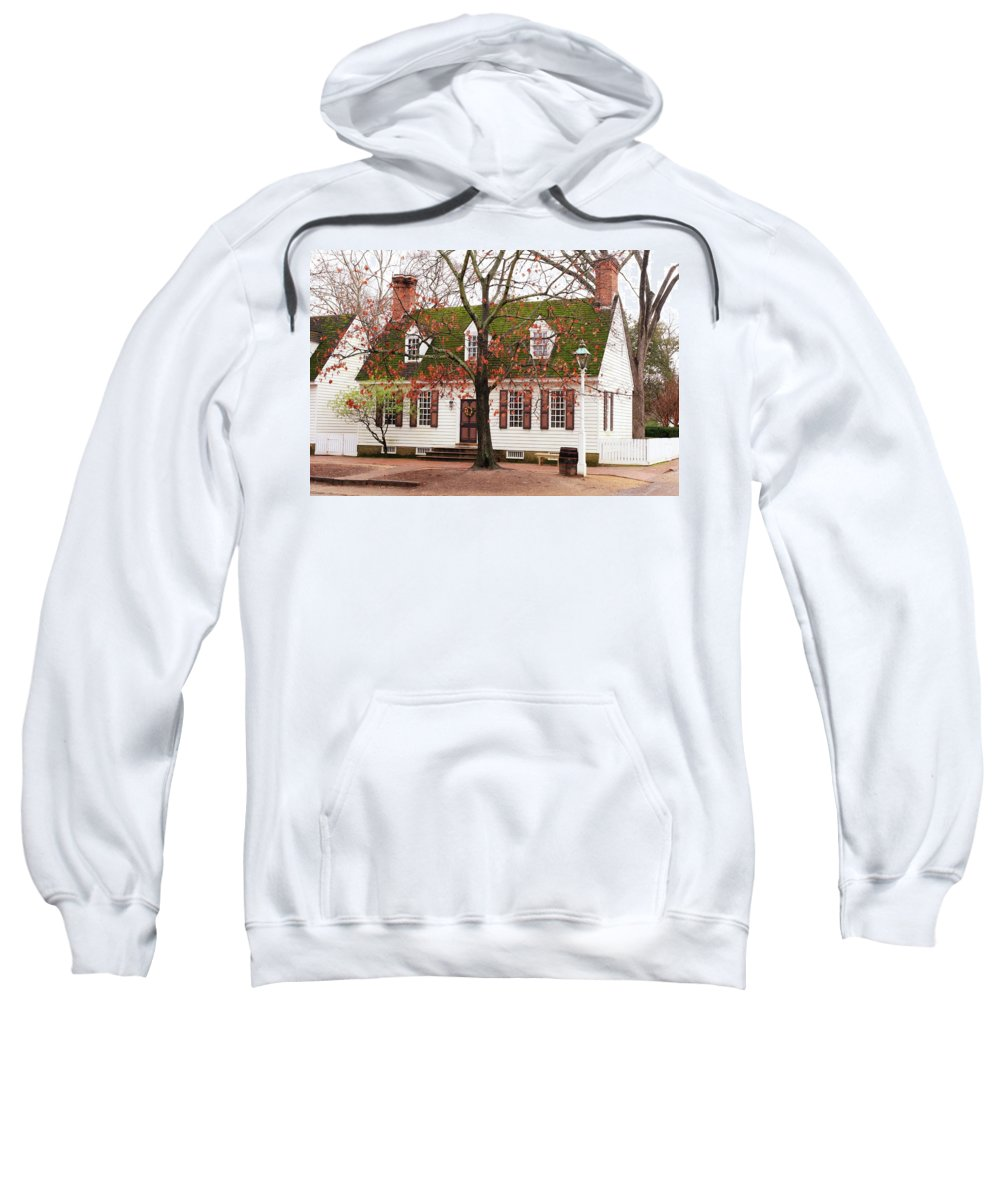 American Sweatshirt featuring the photograph Colonial House by Lou Ford