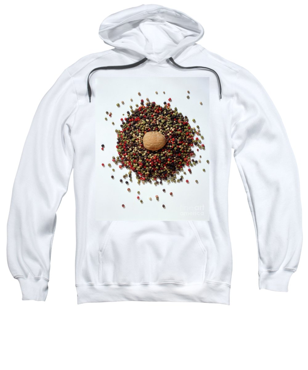Arty Sweatshirt featuring the photograph Colored Peppercorn by Stefania Levi
