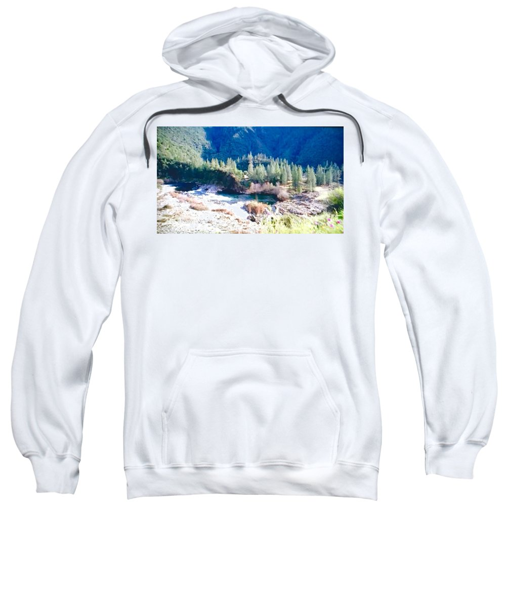 Colorful Sweatshirt featuring the photograph Colorful Landscape by Christy Gendalia