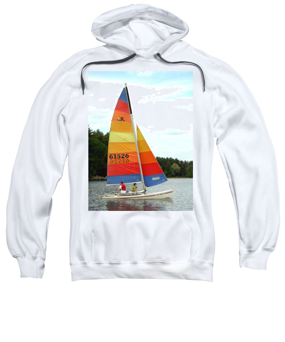 Sailboat Sweatshirt featuring the photograph Colorful Sailin' by Carolyn Jacob