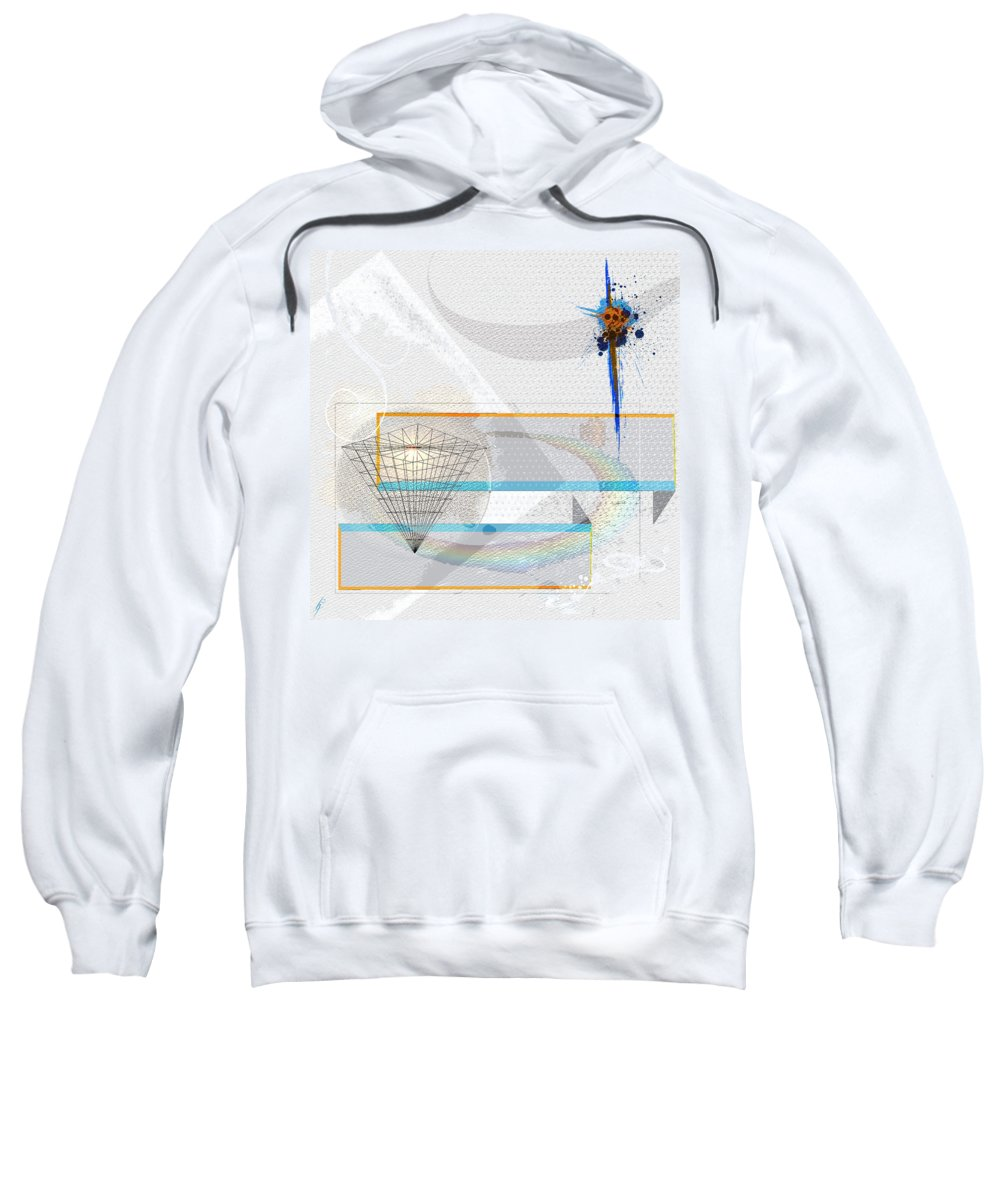 Abstract Sweatshirt featuring the digital art Colouring The Rainbow by Heide Hoffmann