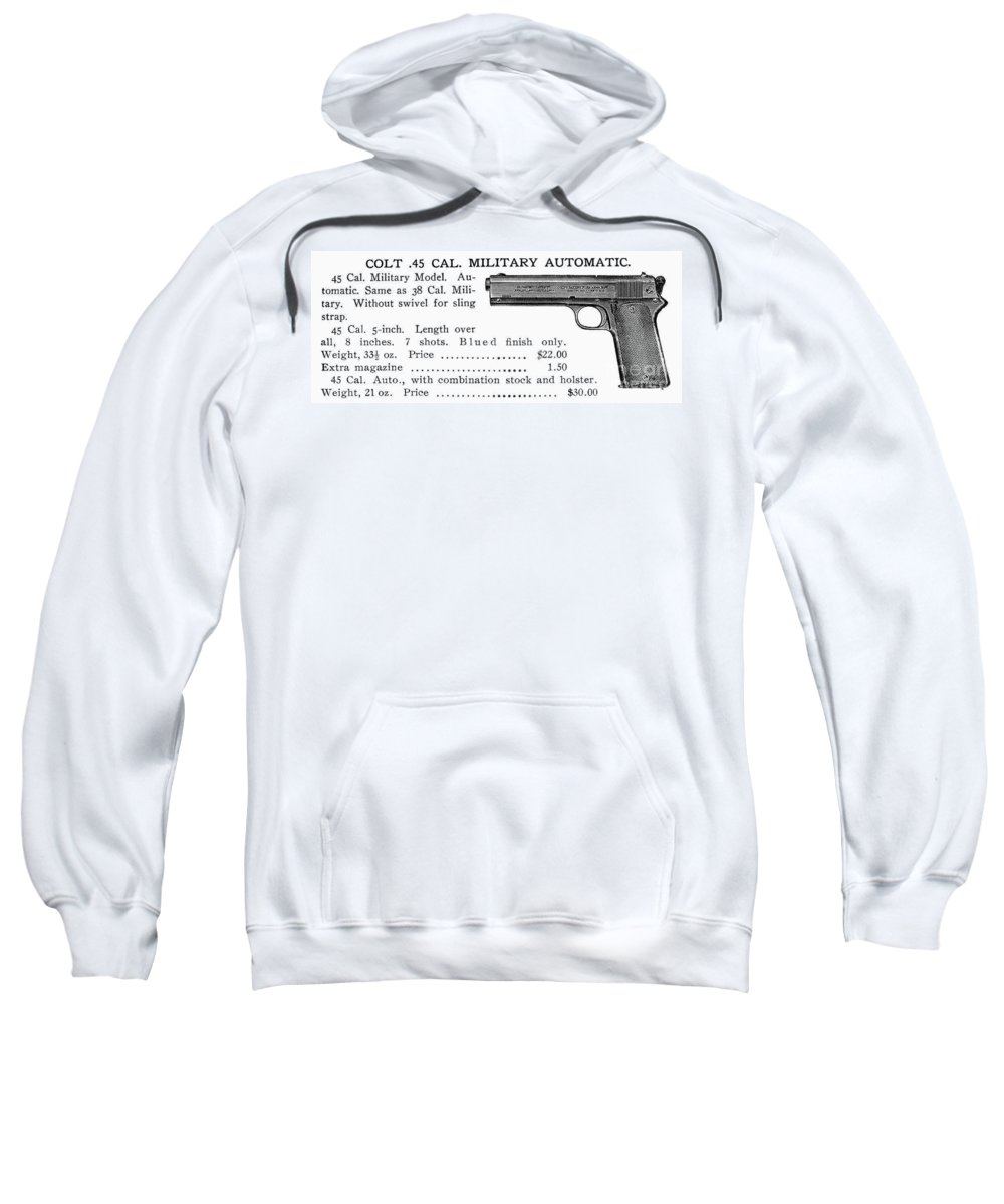 20th Century Sweatshirt featuring the photograph Colt .45 Automatic Pistol by Granger