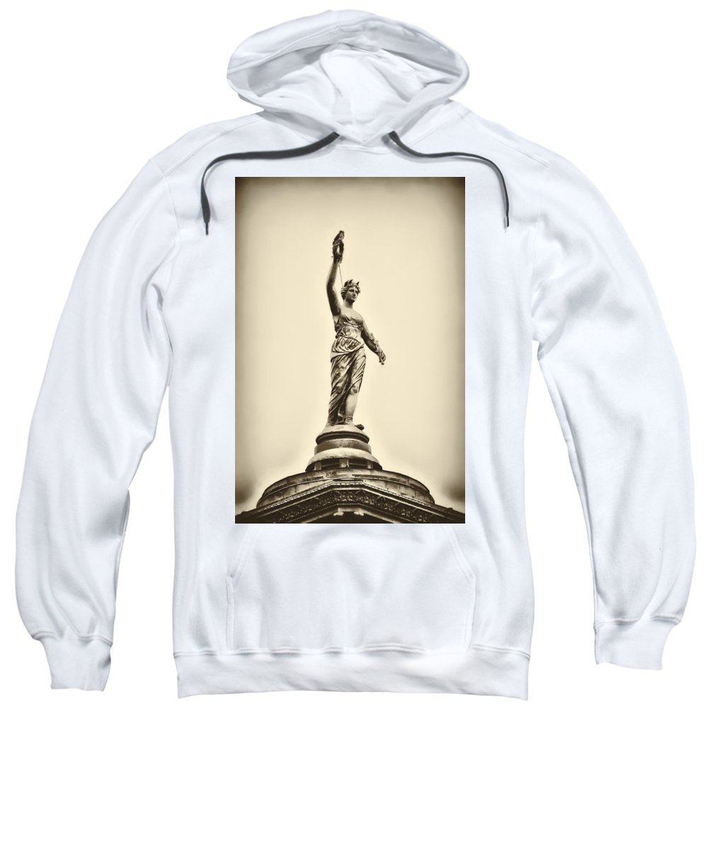 Philadelphia Sweatshirt featuring the photograph Columbia Statue Atop Memorial Hall by Bill Cannon