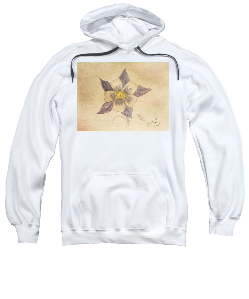 Sweatshirt featuring the painting Columbine by Jan Marie