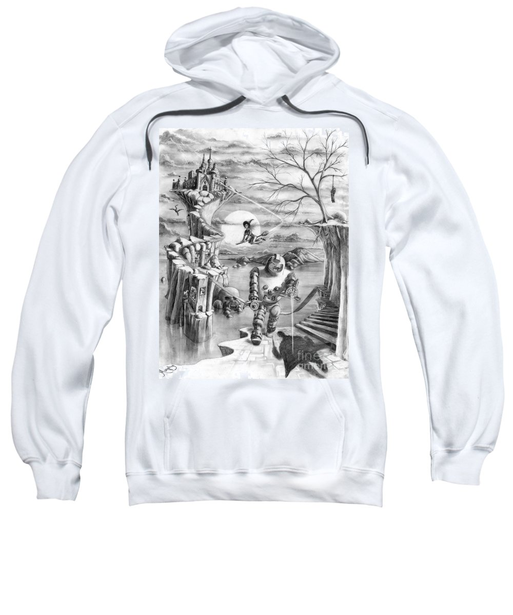Witch Sweatshirt featuring the drawing Comic Book Cover by Murphy Elliott