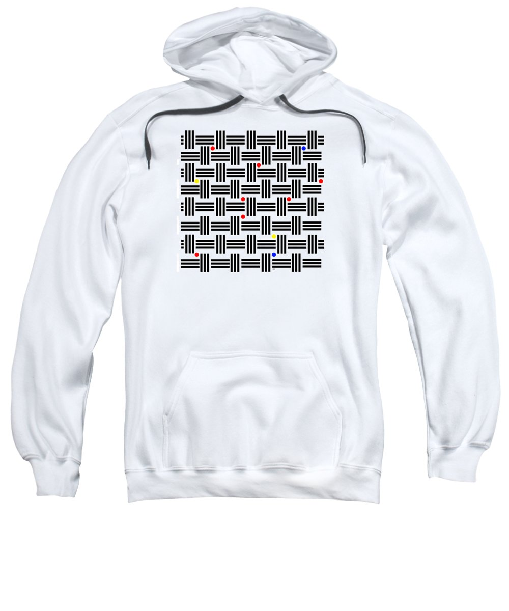 Abstract Art Sweatshirt featuring the digital art Composition 2 by Lois Boyce