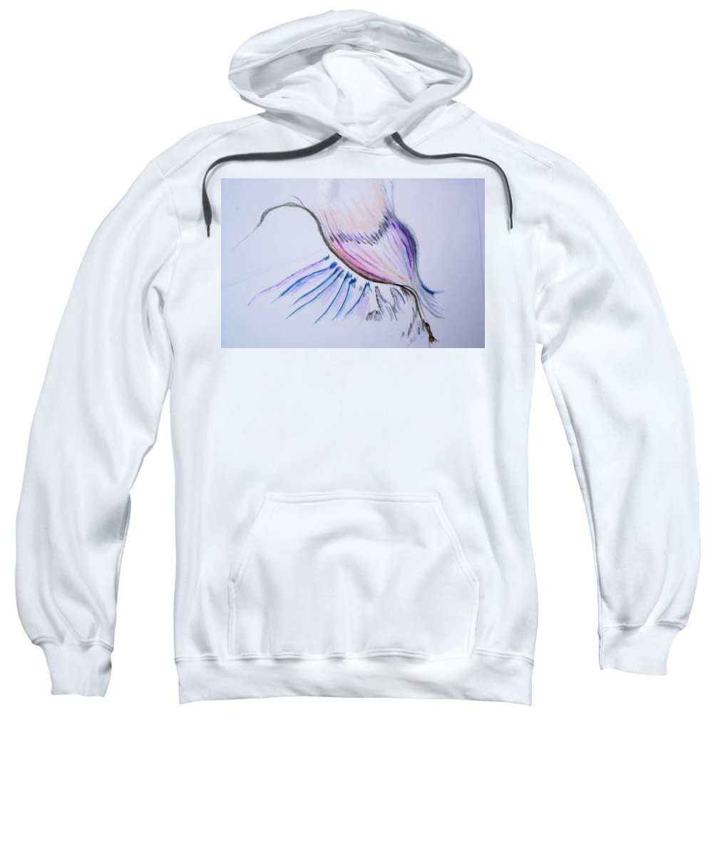 Abstract Painting Sweatshirt featuring the painting Conception by Suzanne Udell Levinger