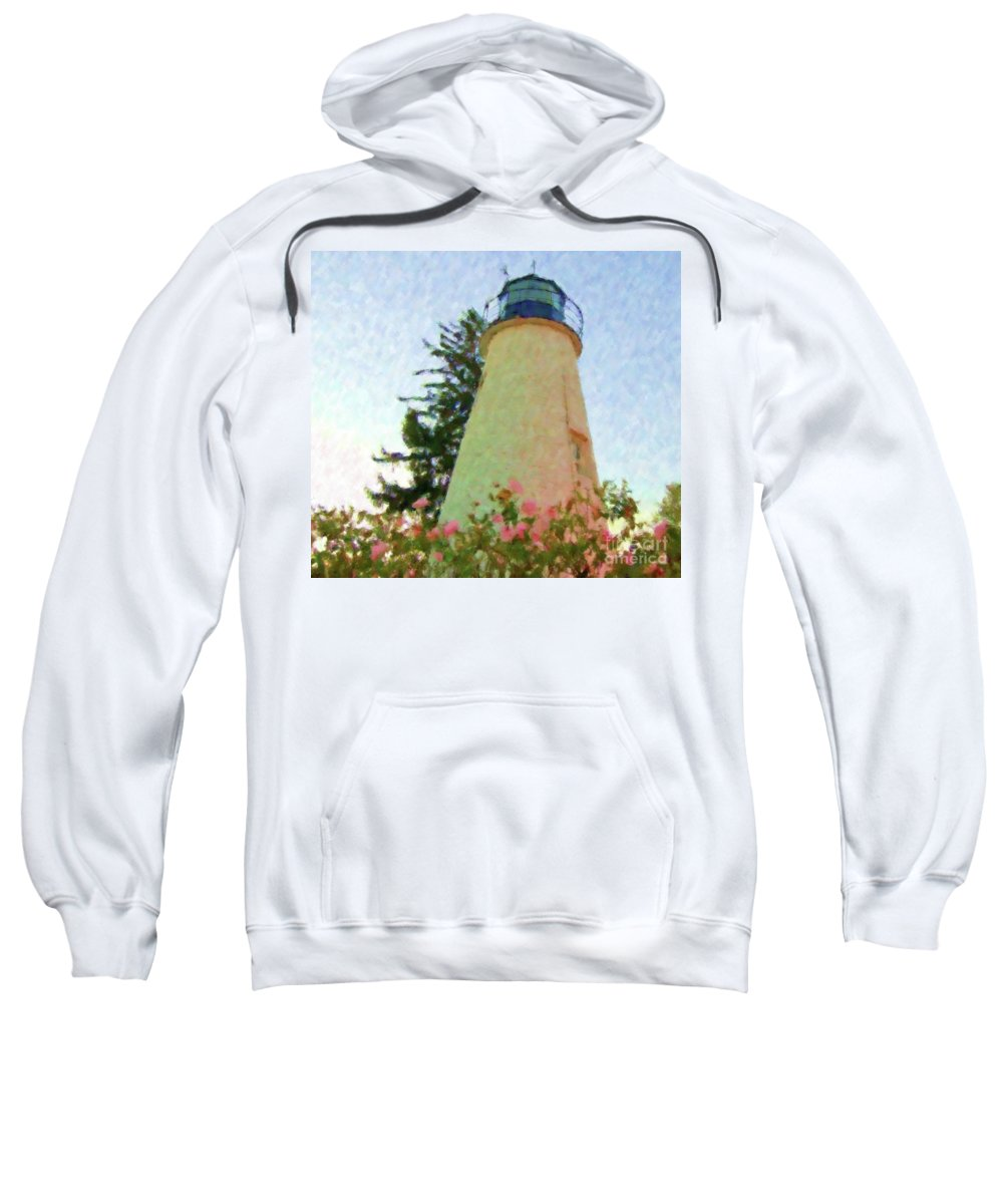 Lighthouse Sweatshirt featuring the photograph Concord Point Lighthouse by Debbi Granruth