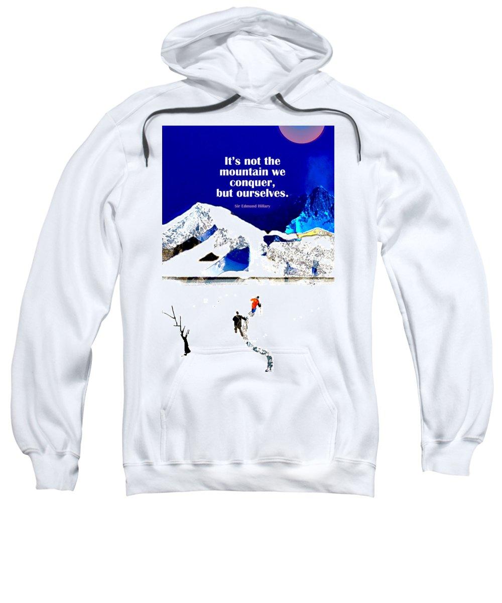 Conquer Sweatshirt featuring the digital art Conquer by Abhiram Antarkar
