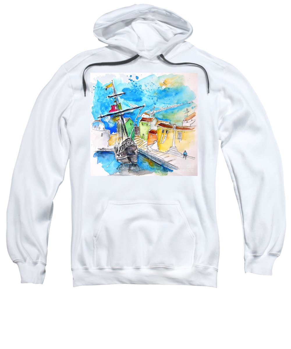 Conquistador Boat In Portugal Adult Pull-Over Hoodie for Sale by Miki De  Goodaboom