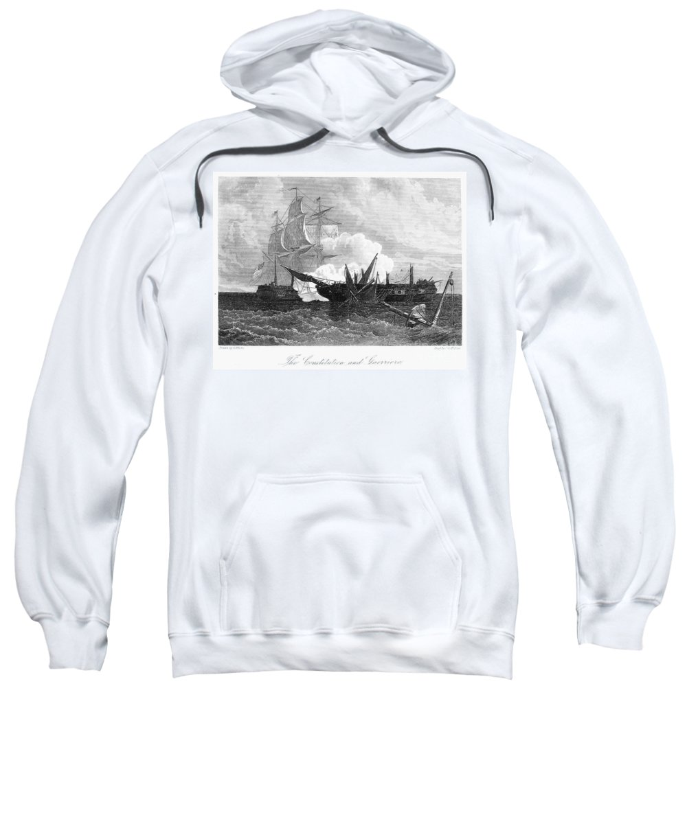 1812 Sweatshirt featuring the photograph Constitution And Guerriere by Granger